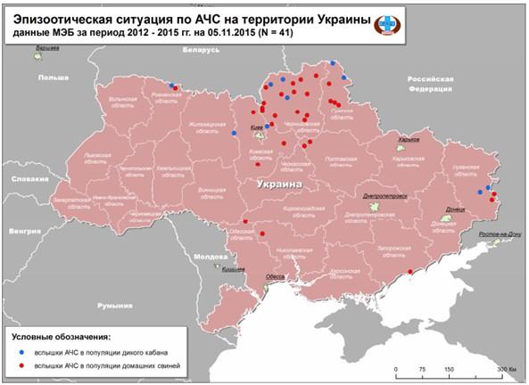 чума свиней в Украине
